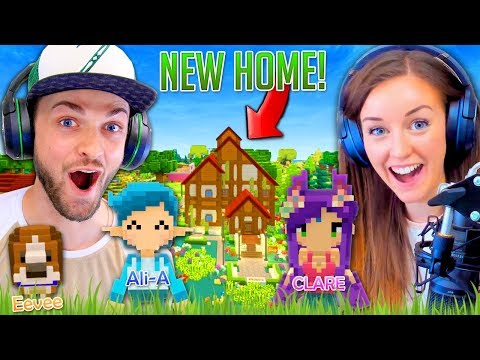 Ali + Clare BUILD a NEW HOME! (Staxel #1)