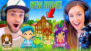 connectYoutube - Ali + Clare BUILD a NEW HOME! (Staxel #1)