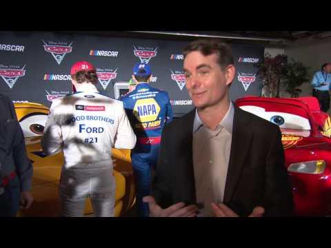 "CARS 3 ""Jeff Gorvette"" Jeff Gordon NASCAR Interview"