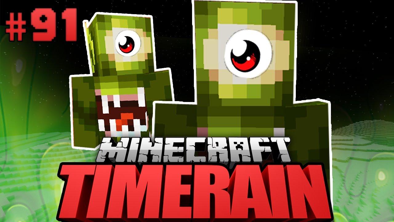 AUF Dem MOND ALIENS GETROFFEN Minecraft Timerain Deutsch - Minecraft timerain spielen