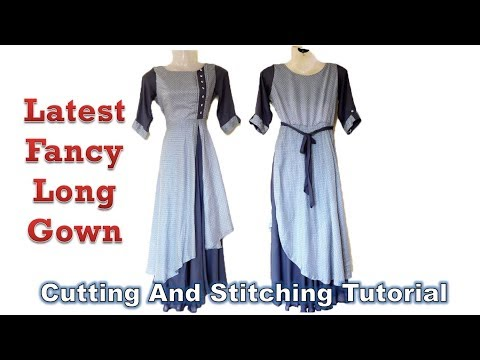 Latest Fancy Long Gown | Umbrella Cut Design | DIY Tutorial