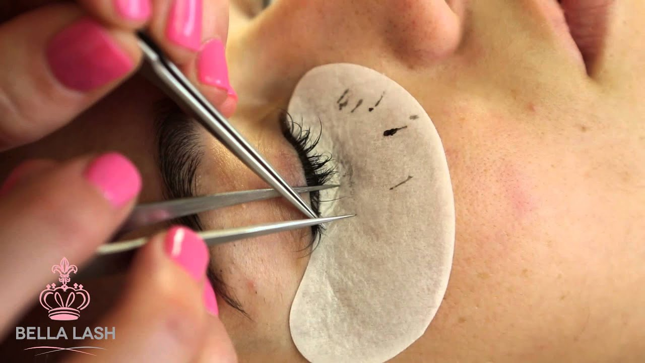610a93b3b0c How to Do Eyelash Extensions by Bella Lash - YouTube