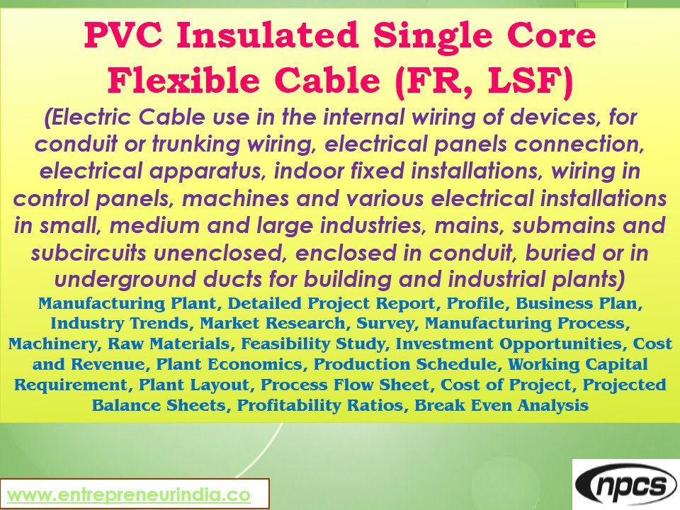PVC Insulated Single Core Flexible Cable, Electric Cable use in the ...
