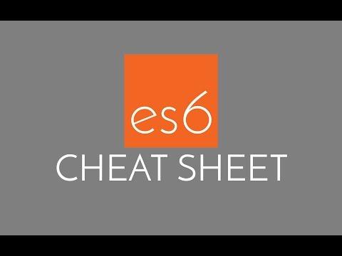 Javascript ES6 Cheatsheet - the best of JS ES6