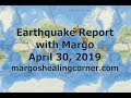 Earthquake Report with Margo (April 30, 2019)