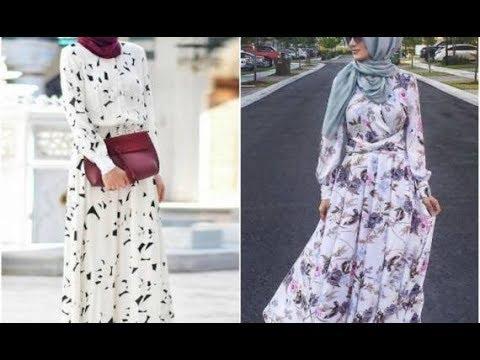 تفصيل وخياطة فستان للمحجبات خطوة بخطوة