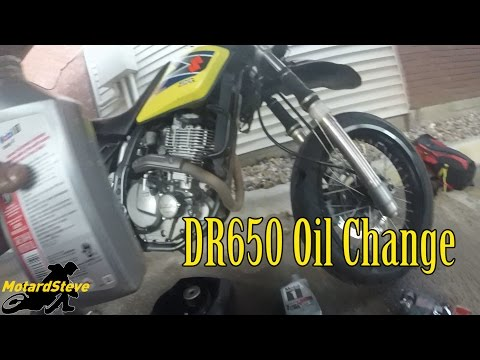 How To - DR650 High Performance Oil Change - YouTube