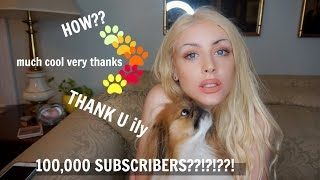 100,000 SUBSCRIBERS!??!? (A LITTLE BIT ABOUT ME)