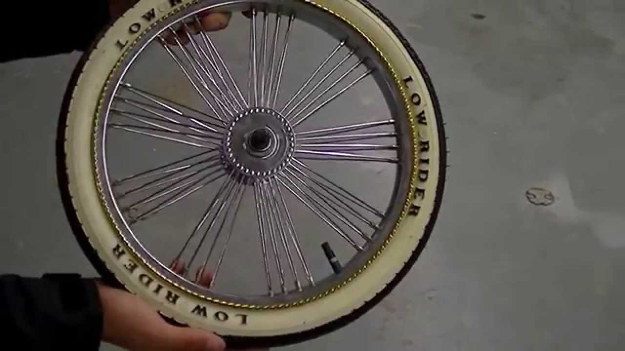 Lowrider Bike Spare Tire With Cover Youtube