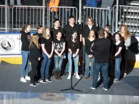 National anthem performed by the Brimfield High School choir