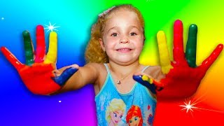 Body Paint Finger Family Fun Pay - drawing for kids easy