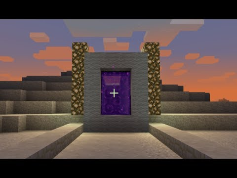 Minecraft How To Make A Portal To A City Minecraft Portal To A City Parody