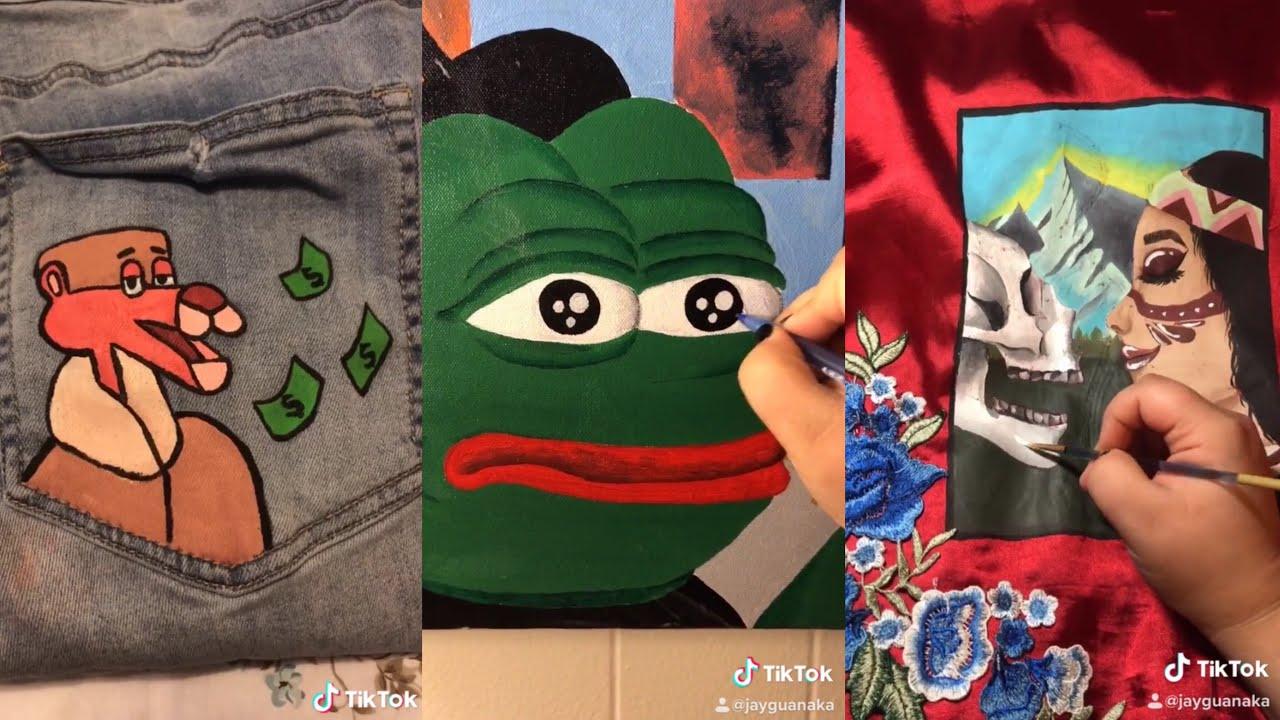 Tiktok Painting Compilation 01 Youtube Painting Drawings Art
