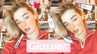 TESTING $200 WORTH OF GLOSSIER MAKEUP... *messy lol*