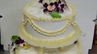 """Свадебный торт в стиле """"ретро"""" Ярусный"""