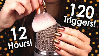 [ASMR] 120+ Triggers over 12 hours! (NO TALKING) Deep relaxing & sleep sounds 😴 MOST REQUESTED