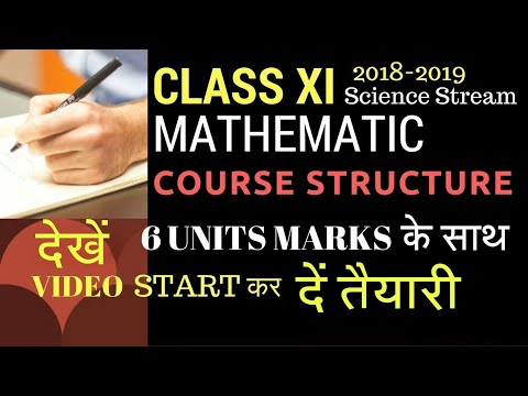 CLASS XI MATHS 2018-2019 NEW COURSE STRUCTURE BY CBSE |SYLLABUS|MARKS DISTRIBUTION |CHAPTERS|BOOKS