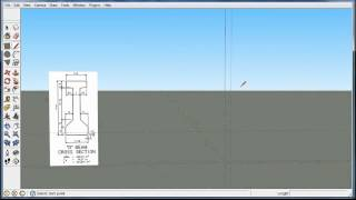 Draw a (Prestressed Concrete )Beam on the vertical axis