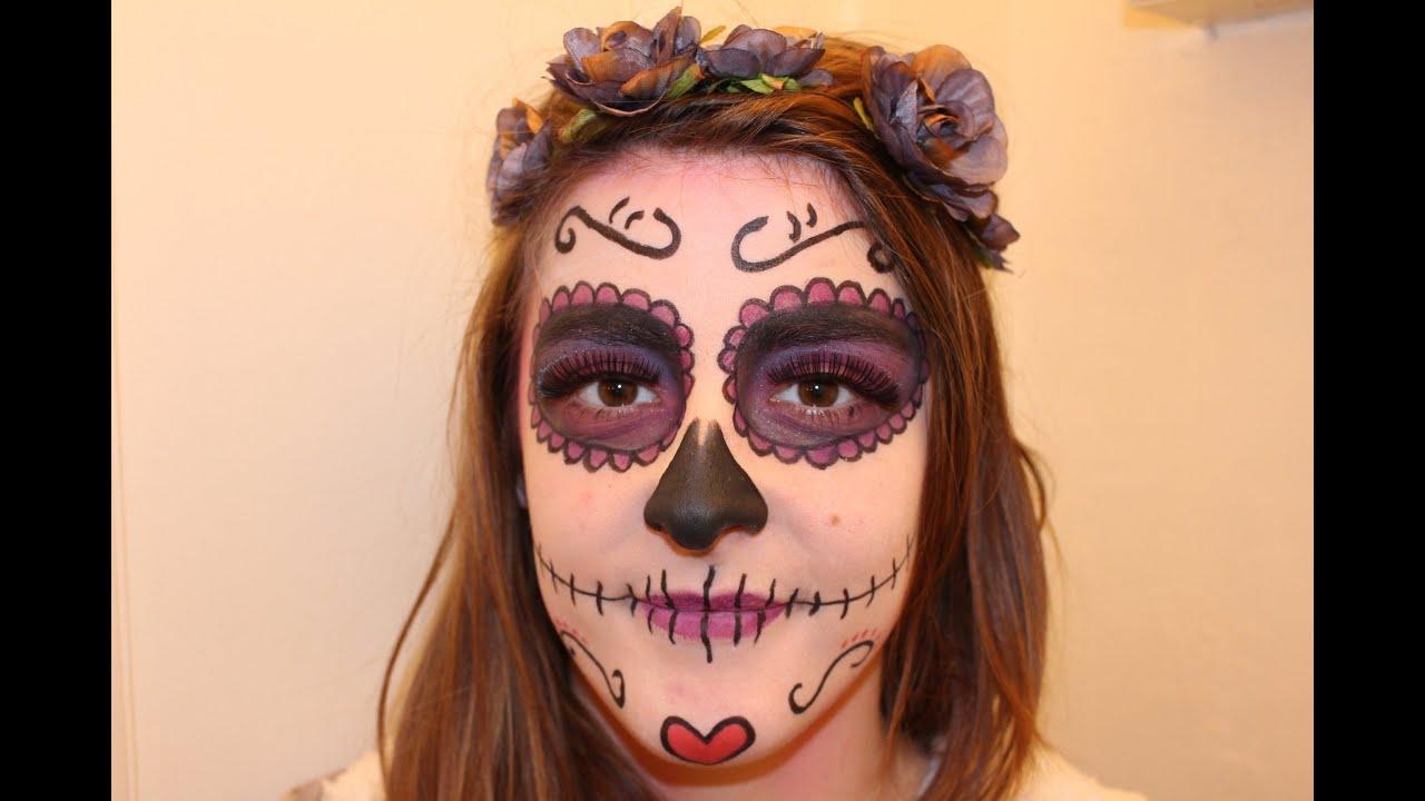 Bevorzugt 05- Maquillage Spécial Carnaval [Sugar Skull] - YouTube QD57