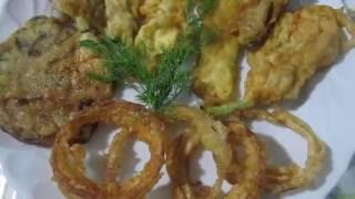 Луковые колечки в кляре.Овощи в кляре. Как приготовить овощи в тесте.