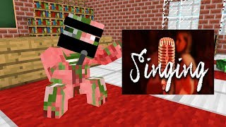 Monster School : SINGING COMPETITION CHALLENGE - Minecraft Animation
