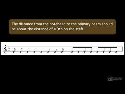 Music Theory 108: Notating Music - 23. Beams