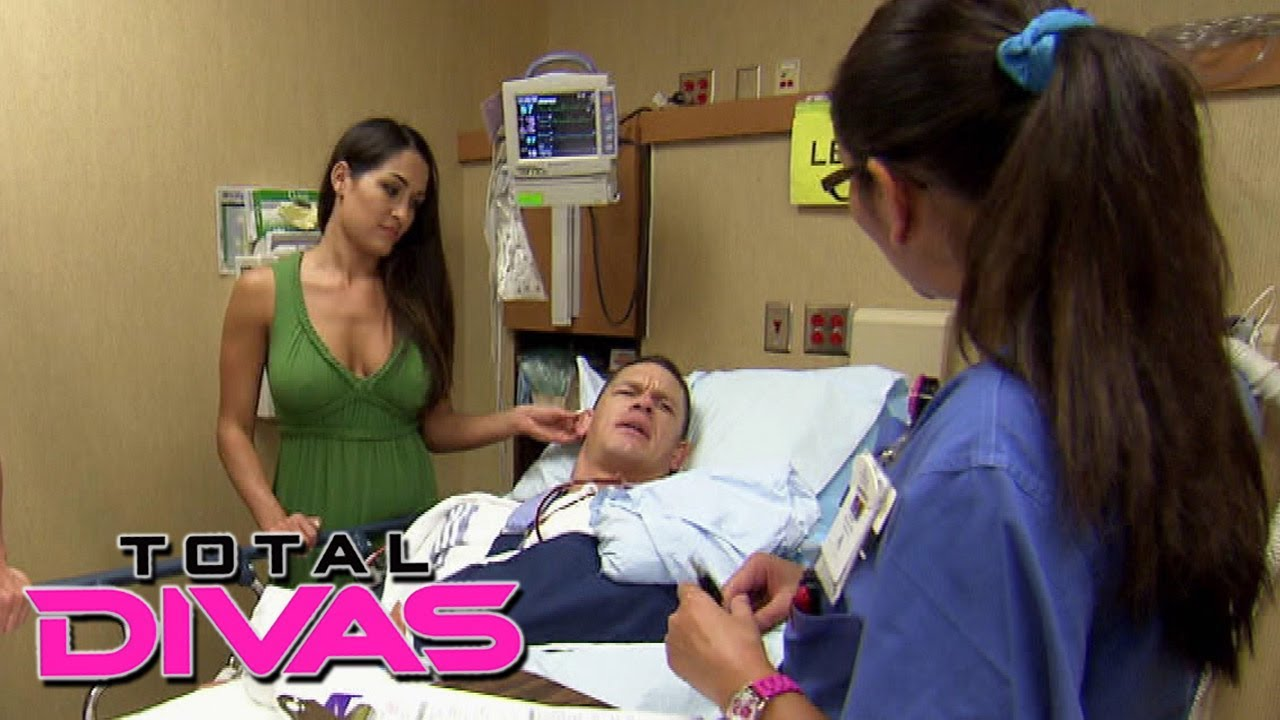 Nikki bella greets john cena after his surgery total divas nov nikki bella greets john cena after his surgery total divas nov 17 2013 youtube kristyandbryce Choice Image