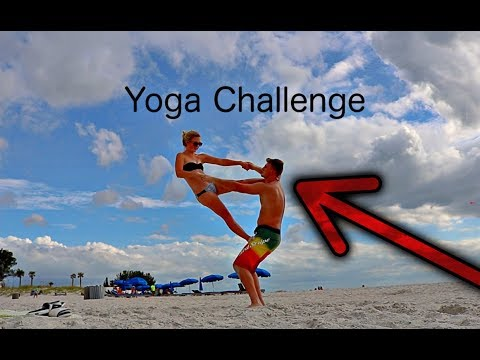 Couples Yoga Challenge at the Beach! (Cannon T6i Test)