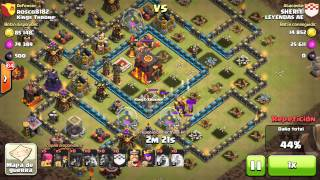 LEYENDAS AE vs Kings Throne - Guerras de Clanes #1 - Clash of Clans Español