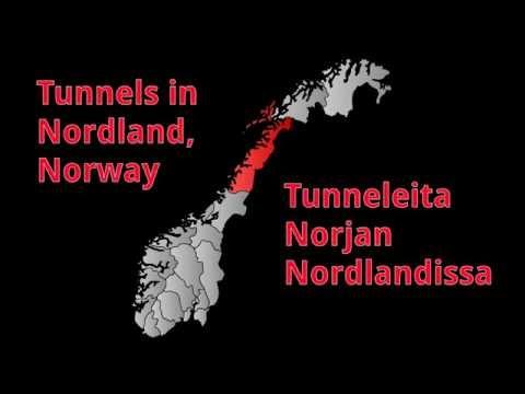 Tunneleita Nordlandissa – Tunnels in Nordland district, Norway