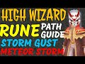 High Wizard Rune guide path, Fire and Water (Meteor storm and Storm Gust)