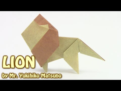Origami Lion Simple By Mr Yukihiko Matsuno