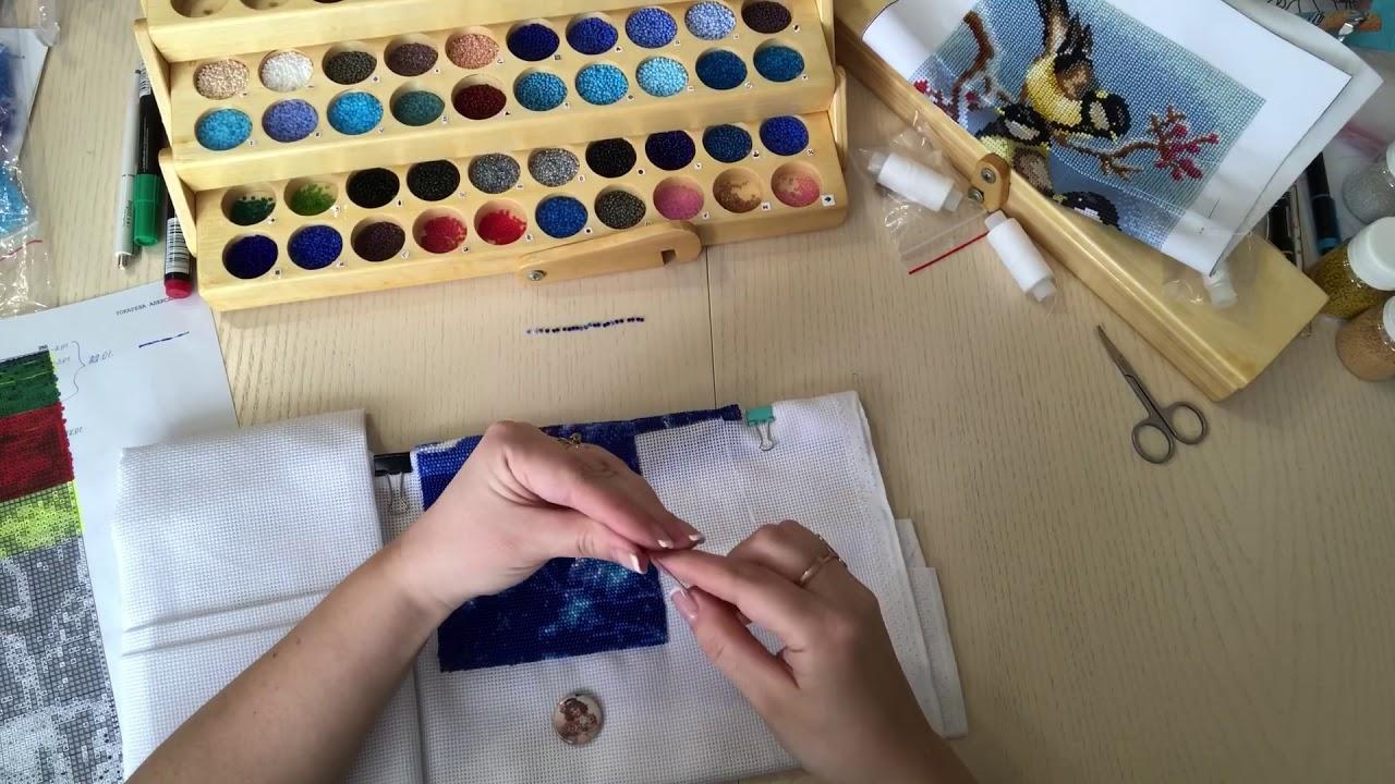 Покажу вам как я стала вышивать бисером на чистой канве