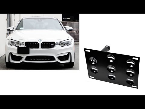 iJDMTOY No Drill Tow Hook License Plate Bracket Installation Guide