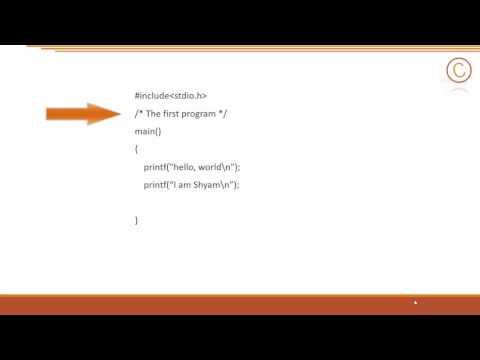 C Programming : Basic Elements of C programming language