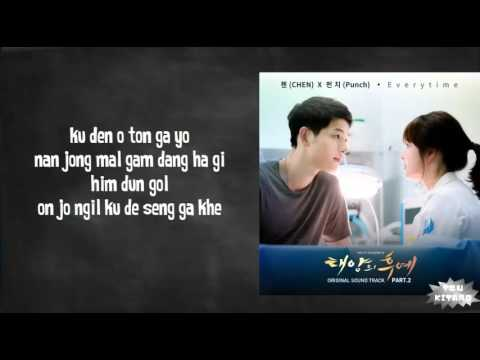 Chen (EXO) Ft. Punch - Everytime Lyrics (easy Lyrics)