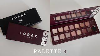 Обзор палетки LORAC PRO 4 свотчи 4 макияжа Новая любимка среди повседневных палеток