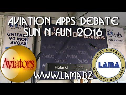 Aviation APPS Debate Forum, sponsored by LAMA and Aviators Hotline.