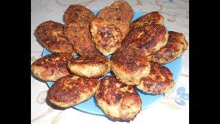 Котлеты из баклажан с мясным  фаршем