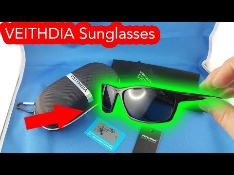 VEITHDIA men sunglasses from AliExpress.com Unboxing Review