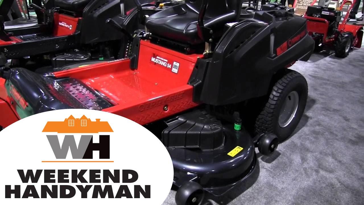 troybilt mustang 54 zero turn riding lawn mower:the weekend