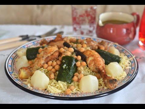 cuisine algérienne: rechta algéroise pour le mawlid nabawi, وصفة