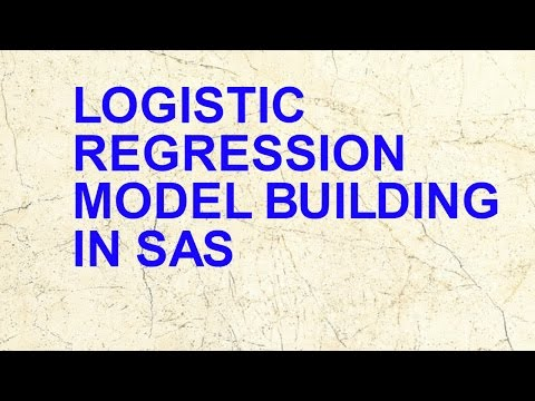 Logistic Regression Modelling using SAS for beginners - YouTube