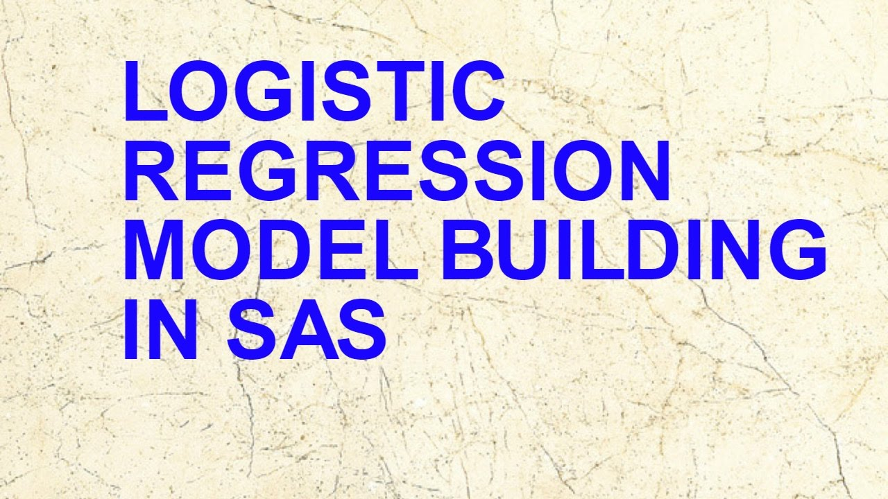 Logistic Regression Modelling using SAS for beginners