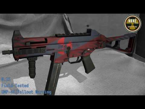 UMP-45 Fallout Warning - Skin Wear Preview