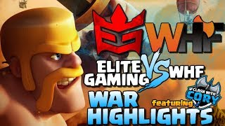 Elite Gaming vs WHF | CWL War Highlights ft. Clash with Cory | Clash of Clans