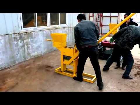 FL1-40 manual press hydraulic soil brick machine