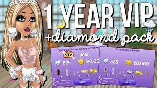 1 YEAR VIP + DIAMOND PACK!!