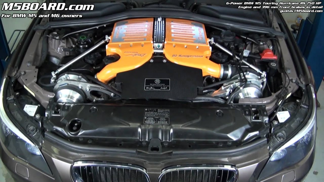 G Power Bmw M5 Touring Hurricane Rs 750 Hp Engine And Brakes In