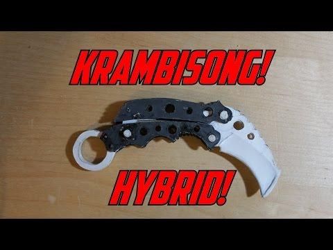 Paper Butterfly Knife Karambit Balisong Hybrid (MK-4 Vuja De) +STRESS TEST